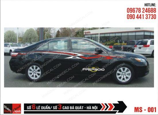 Tem Xe ô tô 4 chỗ - 001