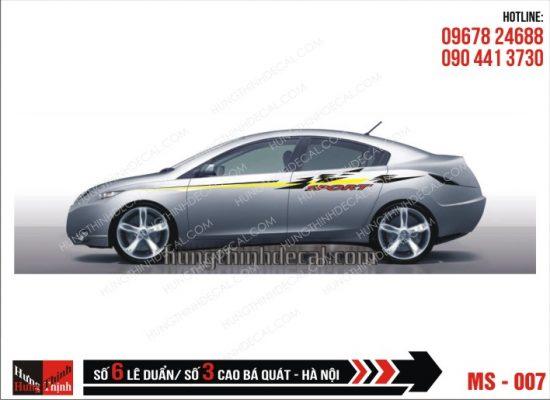 Tem Xe ô tô 4 chỗ - 007