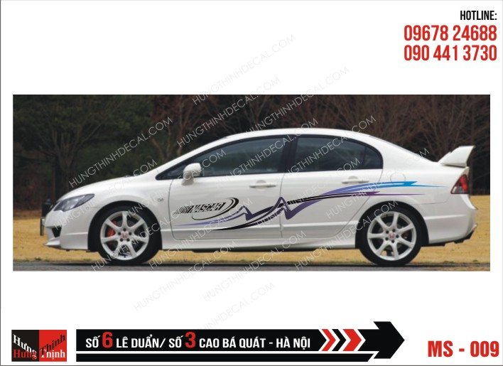 Tem Xe ô tô 4 chỗ - 009