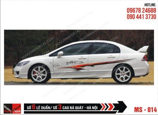 Tem Xe ô tô 4 chỗ - 014