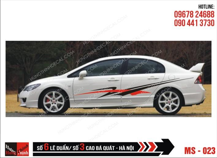 Tem Xe ô tô 4 chỗ - 023