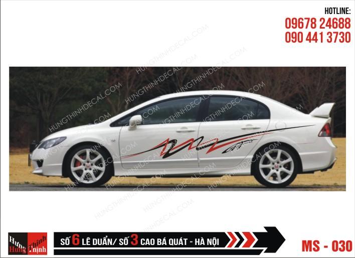 Tem Xe ô tô 4 chỗ - 030