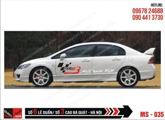 Tem Xe ô tô 4 chỗ - 035