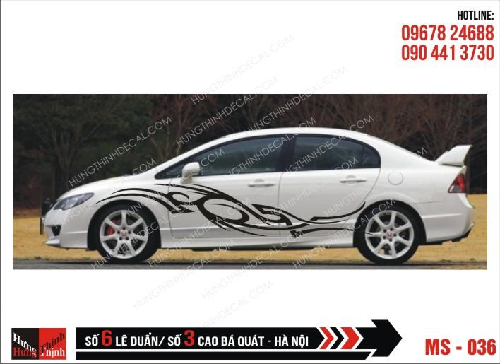 Tem Xe ô tô 4 chỗ - 036