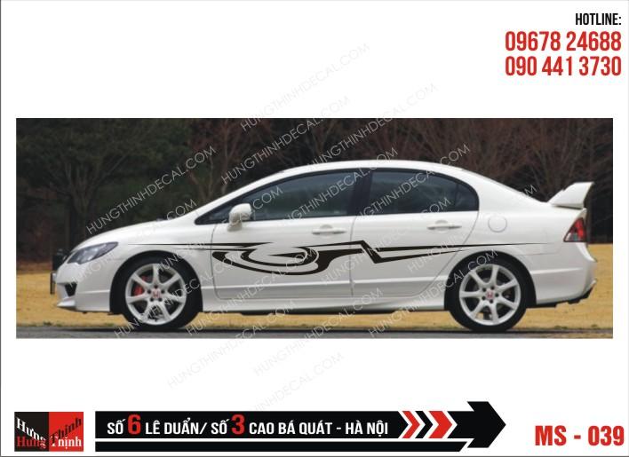 Tem Xe ô tô 4 chỗ - 039
