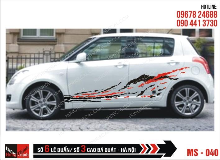Tem Xe ô tô 4 chỗ - 040