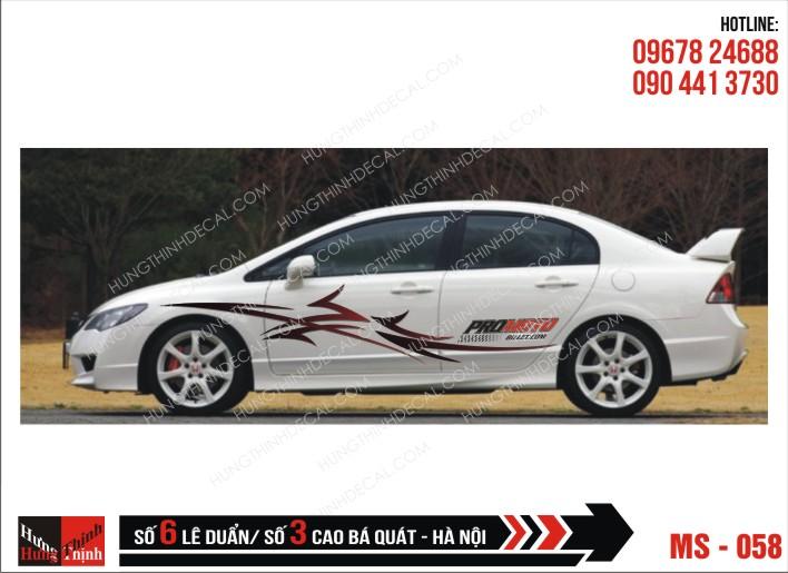 Tem Xe ô tô 4 chỗ - 058