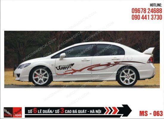 Tem Xe ô tô 4 chỗ - 063