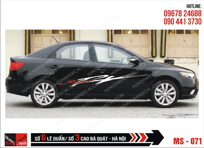 Tem Xe ô tô 4 chỗ - 071