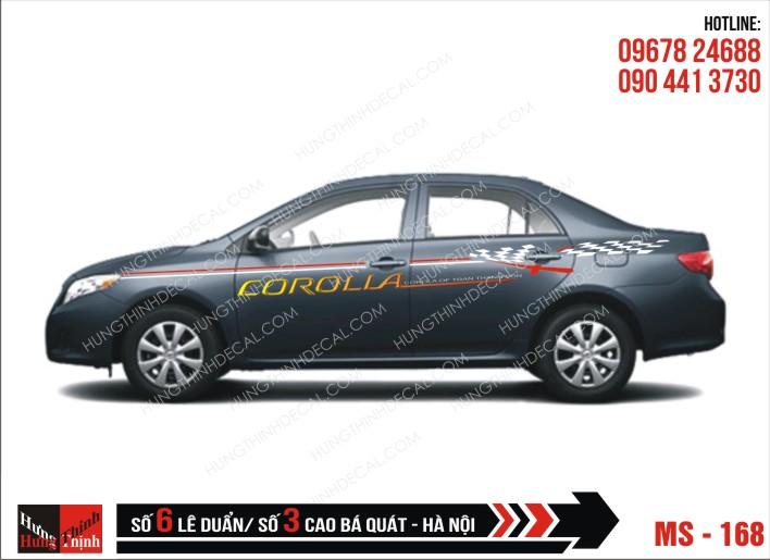 Tem Xe ô tô 4 chỗ – 168
