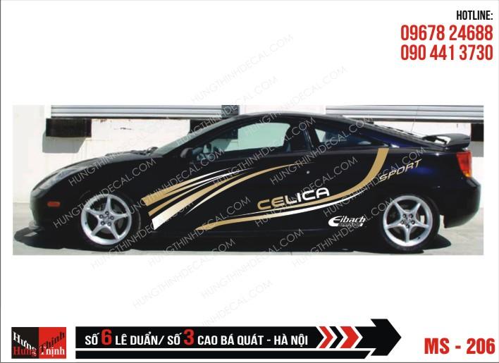 Tem Xe ô tô 4 chỗ – 206