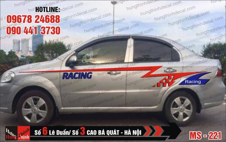 Tem Xe ô tô 4 chỗ – 221
