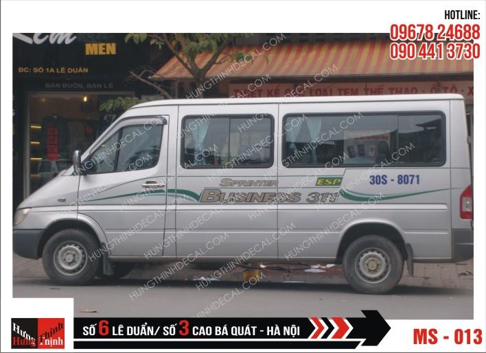Tem Xe Ô Tô 16 Chỗ - 013